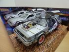 Coffret de 3 DELOREAN DMC du film Retour vers le futur / TRILOGY pack 1/24