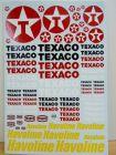 SET DECALCOMANIES LOGO INSIGNES SPONSOR TEXACO HAVOLINE 1/43 - 1/32 - 1/24 - 1/18 TRANSFER INDY CAR