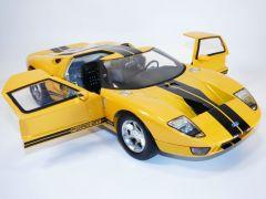 FORD GT40 GT Concept jaune & bandes noires 1/12