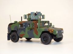 HUMMER MILITAIRE US ARMY - M1115 HUMVEE WOODLAND CAMOUFLAGE 1/48 SOLIDO S4800101 3663506011702